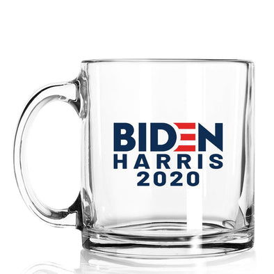 Biden Harris 2020 - Glass Standard Mug - Case Pack - 24/case at $4/pc