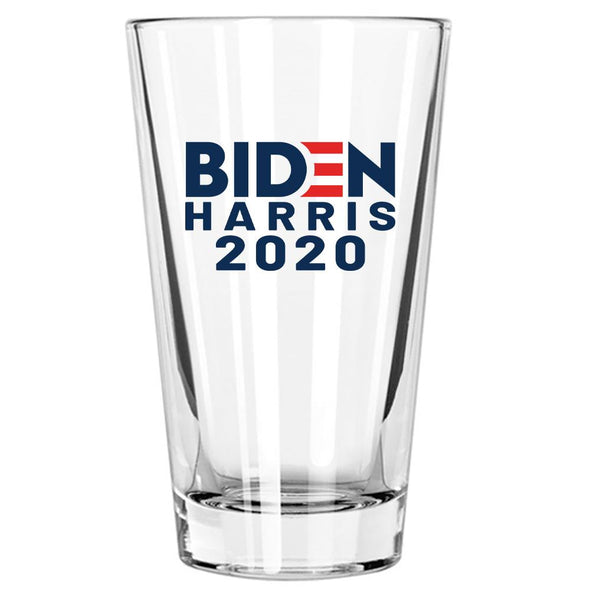 Biden Harris 2020 in Color - Pint Glass - Case Pack - 45/case at $4/pc