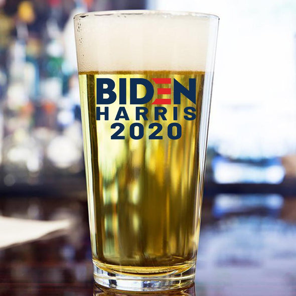 Biden Harris 2020 in Color - Pint Glass - Full Pallet - 2016/case at $2.75/pc