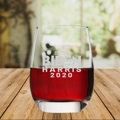 Biden Harris 2020 - Wine Glass - Case Pack - 45/case at $4/pc