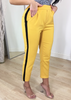 MUSTARD TROUSERS WITH SIDE STRIPE