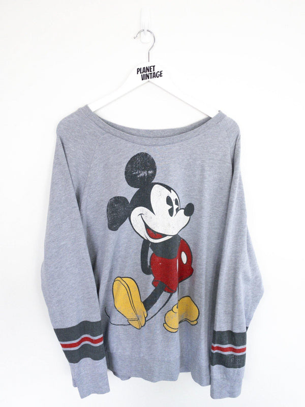 Mickey Mouse Long Sleeve Tee (XL) - Planet Vintage Store