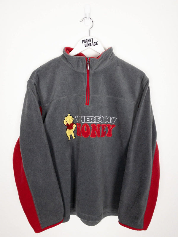 Winnie the Pooh Quarter Zip Fleece (L) - Planet Vintage Store