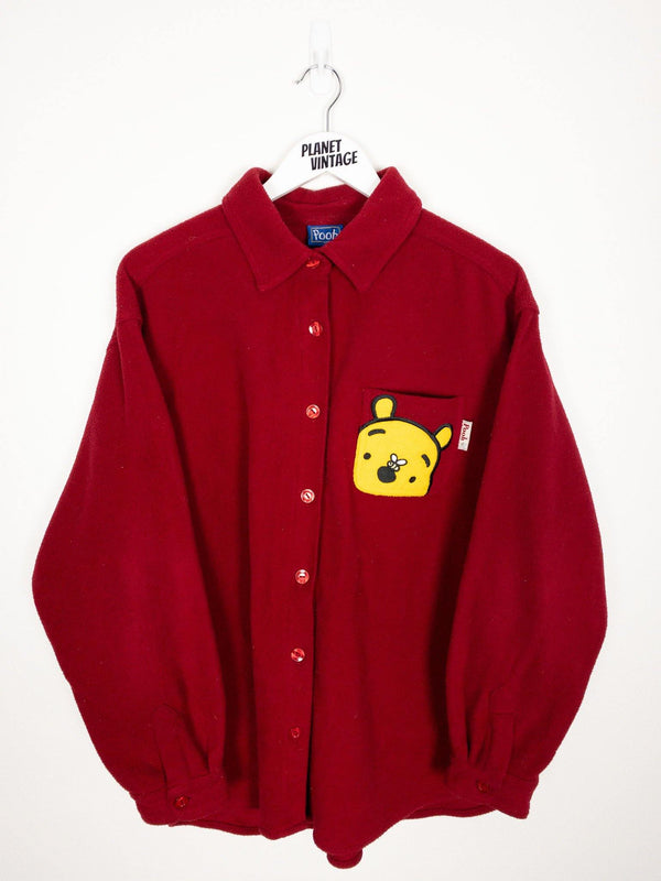Winnie the Pooh Fleece Button Up (XL) - Planet Vintage Store