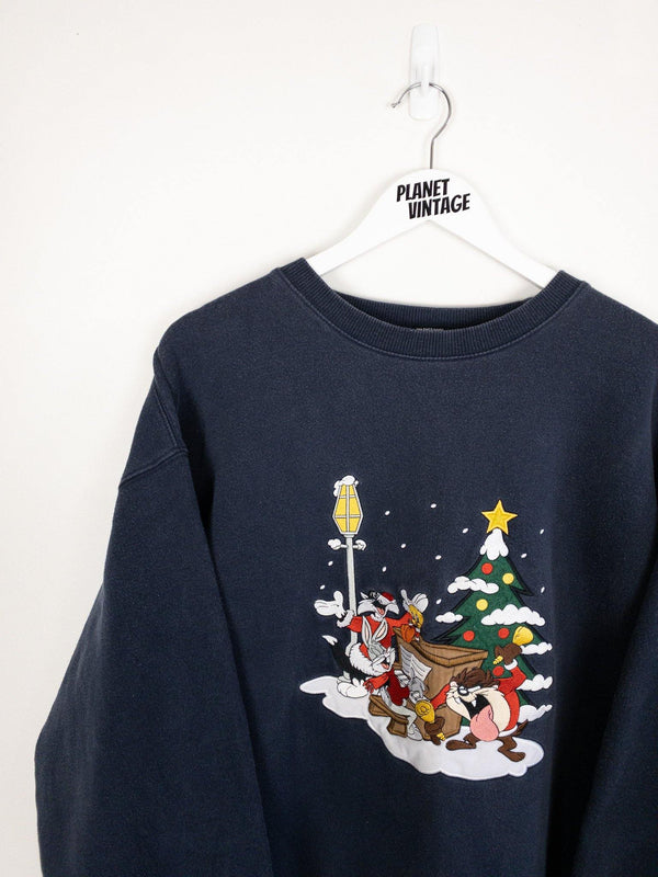 Looney Tunes Christmas Sweatshirt (XL) - Planet Vintage Store