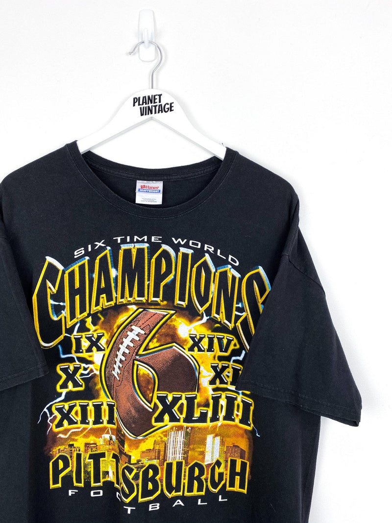 Pittsburgh Steelers 6 Time Champs Tee (XL) - Planet Vintage Store