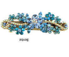 Load image into Gallery viewer, Crystals Barrette, Hair Barrette For Women, Flower Hair Clip, French Hair Barrette