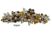 Load image into Gallery viewer, Rhinestones Barrette, Crystals Barrette, Hair Barrette For Women, Flower Hair Clip, French Hair Barrette