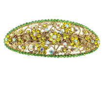 Load image into Gallery viewer, yellow crystal barrette