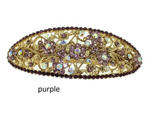 Load image into Gallery viewer, crystal barrette, purple barrette