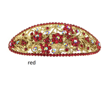 Load image into Gallery viewer, red crystal barrette