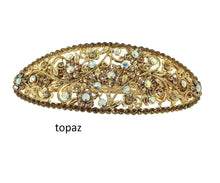Load image into Gallery viewer, topaz crystal barrette