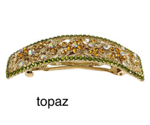 Load image into Gallery viewer, topaz crystal barrette, hair clip
