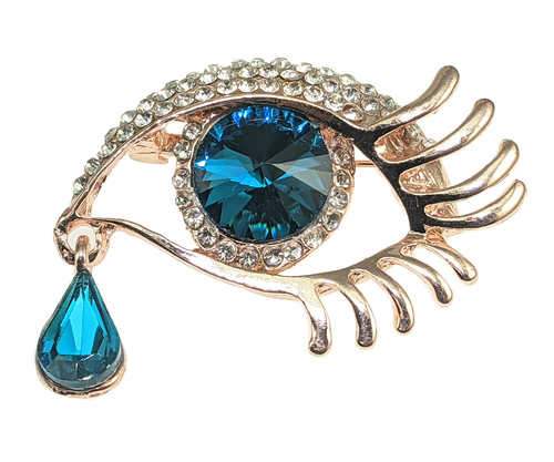 Eye of Helios brooch with rhinestone
