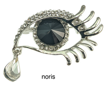 Load image into Gallery viewer, Eye of Helios brooch with rhinestone