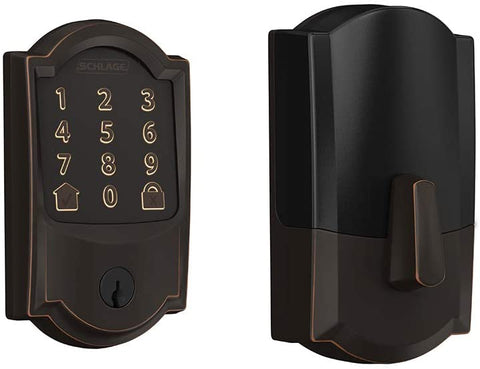 Schlage Encode Smart Wi-Fi Deadbolt with Camelot Trim in Aged Bronze