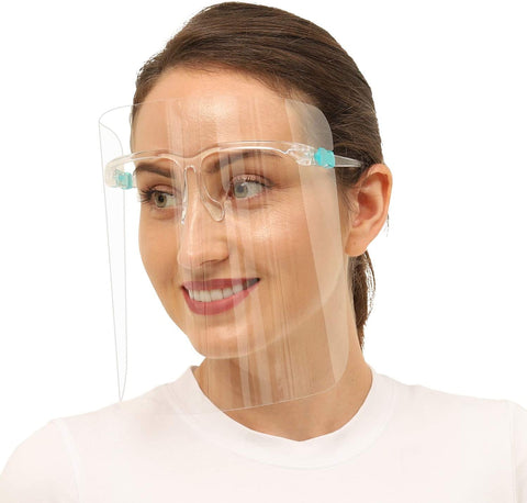 10pcs Glasses Face Shield Reusable Goggle Shields Replaceable Anti Fog Shields Transparent Face Shield Protect Face and Eyes for Women and Men (10, Transparent)