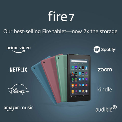 """Fire 7 tablet (7"""" display, 16 GB) - latest model, 2019 release"""