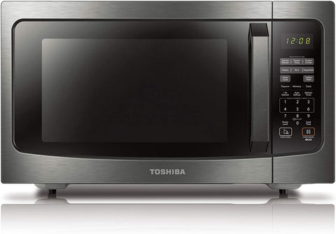 Toshiba ML-EM45P(BS) Countertop Microwave oven with Smart Sensor, Sound on/off Function and Position Memory Turntable, 1.6 Cu.ft