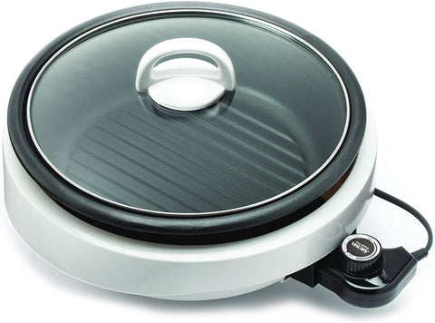 Aroma Housewares ASP-137 Grillet 3Qt. 3-in-1 Cool-Touch Electric Indoor Grill Portable, Dishwasher Safe, 3-Quart