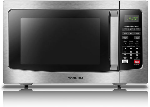Toshiba EM131A5C-SS Microwave Oven with Smart Sensor, Easy Clean Interior, ECO Mode and Sound On/Off, 1.2 Cu. ft