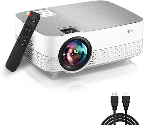 Movie Projector,6500 Lumens 1080P Supported HiFi Speaker for Home Theater Mini Projector, 60,000 Hours LED lamp Life Outdoor Video Projector Compatible with/TV/Stick/Switch/Laptop/PS5/TF/USB/HDMI