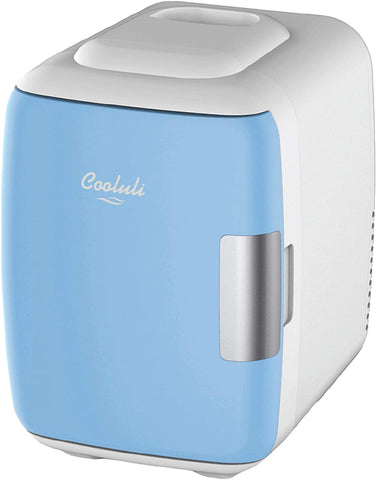 Cooluli Mini Fridge Electric Cooler and Warmer (4 Liter / 6 Can): AC/DC Portable Thermoelectric System w/ Exclusive On the Go USB Power Bank Option