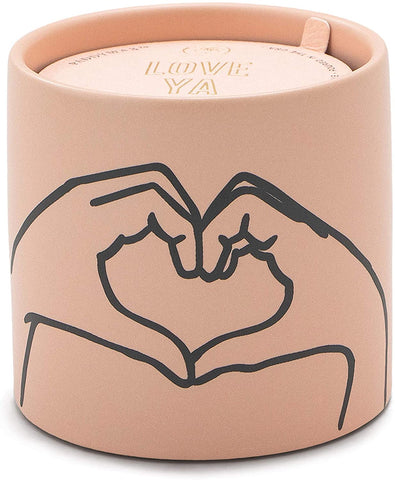 Paddywax Candles IM0503Z Impressions Collection Scented Candle, 5.75-Ounce, Dusty Pink - Heart (Tobacco & Vanilla)