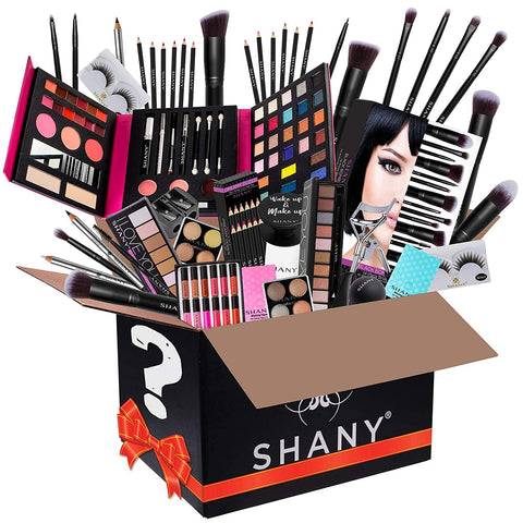 SHANY Gift Surprise - AMAZON EXCLUSIVE - All in One Makeup Bundle - Includes Pro Makeup Brush Set, Eyeshadow Palette, Makeup Set or Lipgloss Set and etc. - COLORS & SELECTION VARY