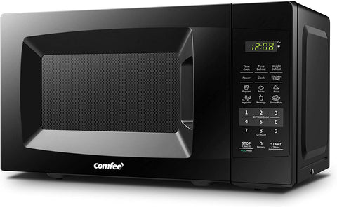 COMFEE' EM720CPL-PMB Countertop Microwave Oven with Sound On/Off, ECO Mode and Easy One-Touch Buttons, 0.7cu.ft, 700W