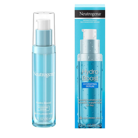 Neutrogena Hydro Boost Hydrating Hyaluronic Acid Serum, Oil-Free and Non-Comedogenic Face Serum Formula for Glowing Complexion, Oil-Free & Non-Comedogenic, 1 Fl Ounce