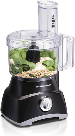 Hamilton Beach 8-Cup Compact Food Processor & Vegetable Chopper for Slicing, Shredding, Mincing, and Puree, 450 Watts
