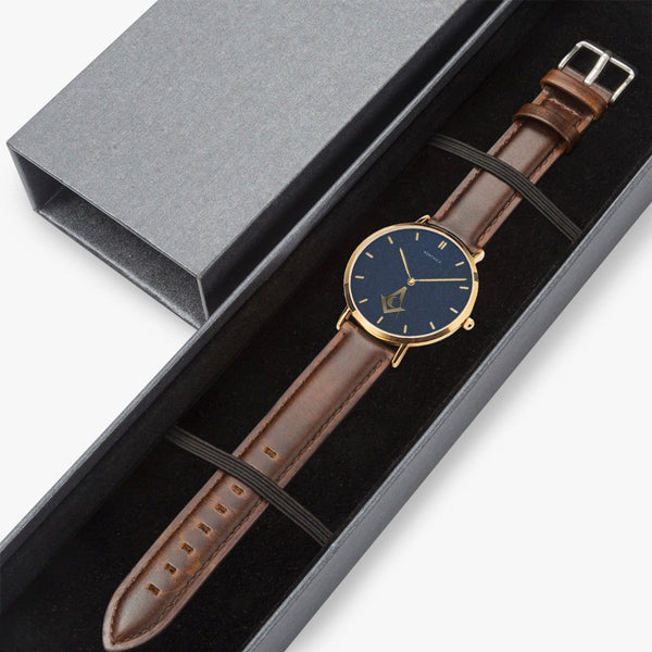 Junior Deacon Leather Strap Quartz Watch