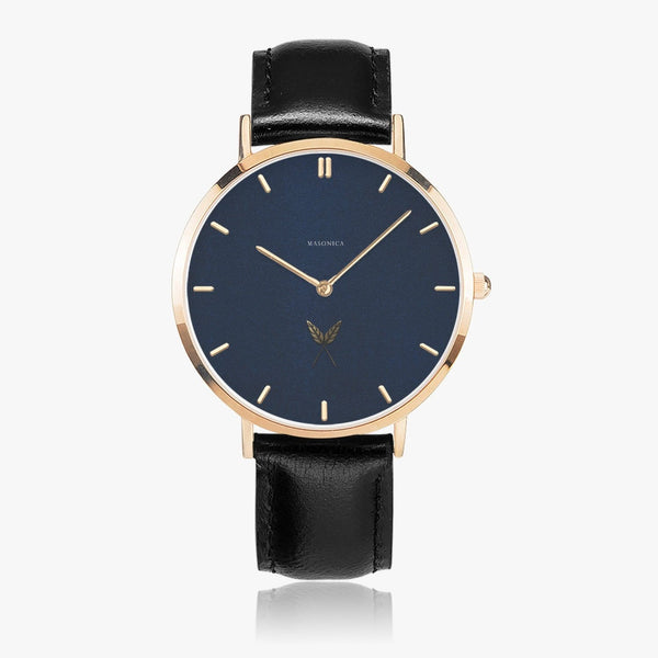 Secretary Leather Strap Quartz Watch