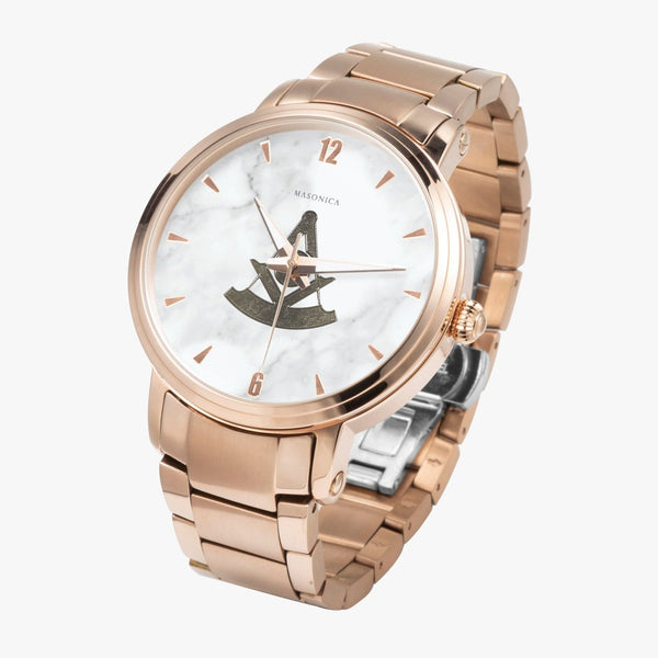 Golden Pst Master Steel Strap Automatic Watch