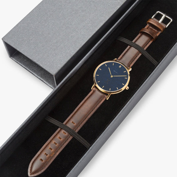 Master of Ceremonies Leather Strap Quartz Watch