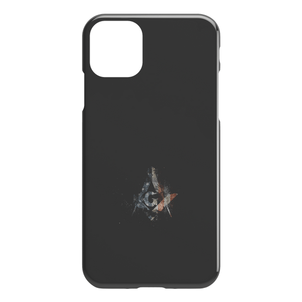 EEUU Flag Masonic Square and Compass iPhone Case
