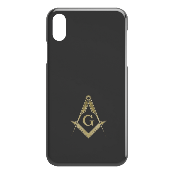 Masonic Square and Compass (Watercolor Sketch) iPhone Case