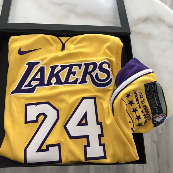 Kobe Bryant Los Angeles Lakers #24 Retirement Authentic Jersey ...