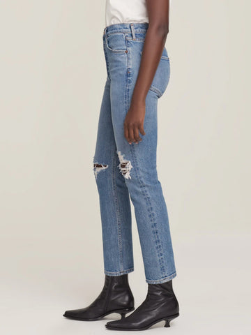Agolde Riley High Rise Straight Crop Jean