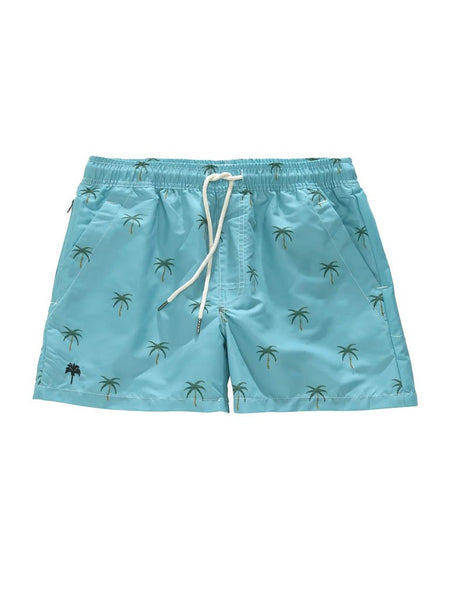 OAS Blue Palm Swim Shorts