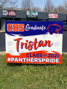 Graduate Yard Sign Template 1