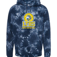 LTHS Girls Water Polo Independent Trading Co. Tie Dye Sweatshirt