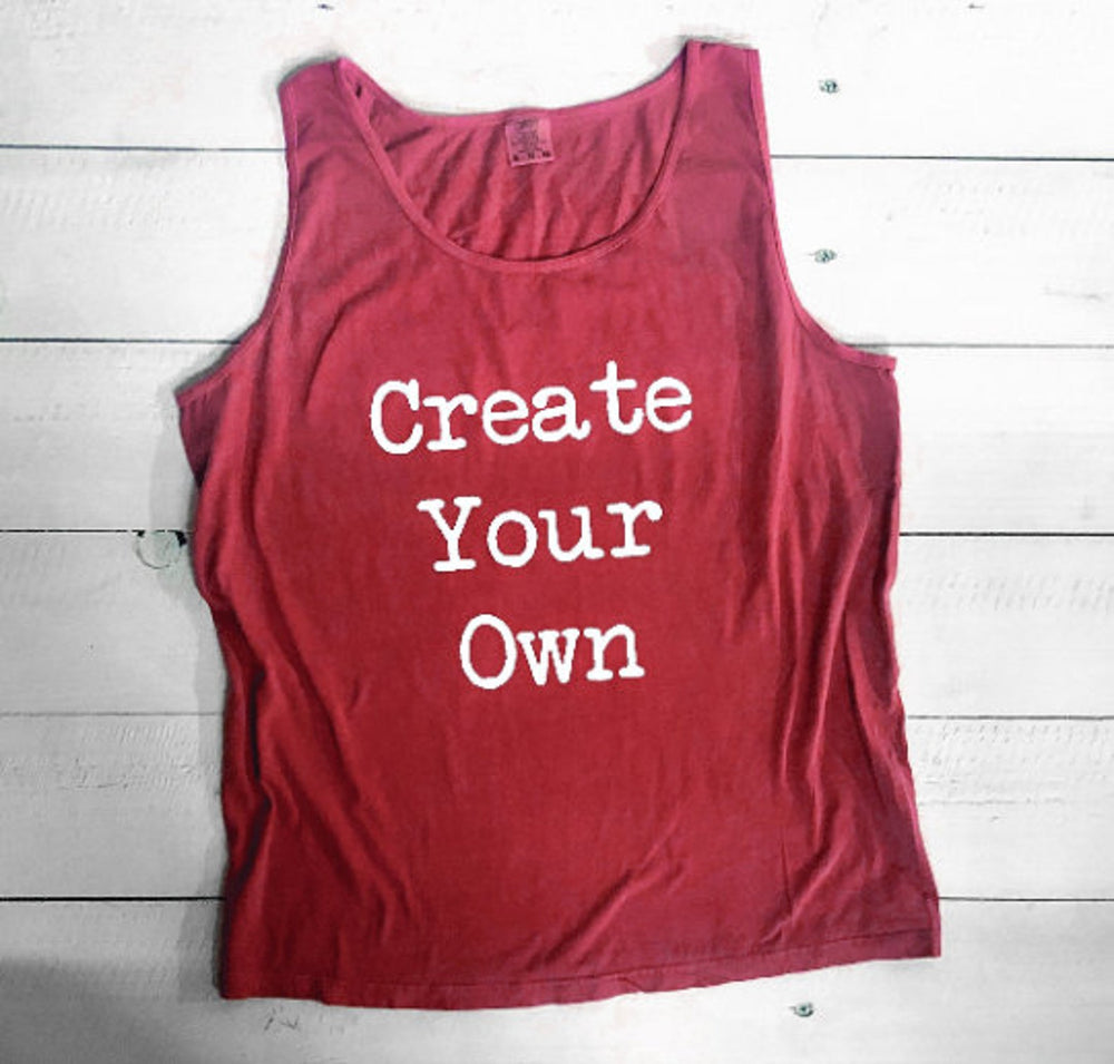 Create Your Own Comfort Colors Tank