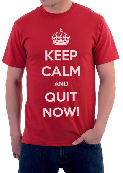 """Keep calm and QuitNow!"" for man"