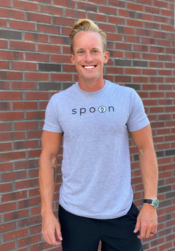 spoon tee – blue
