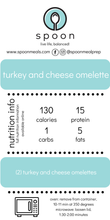 Load image into Gallery viewer, Turkey and Cheese Omelette