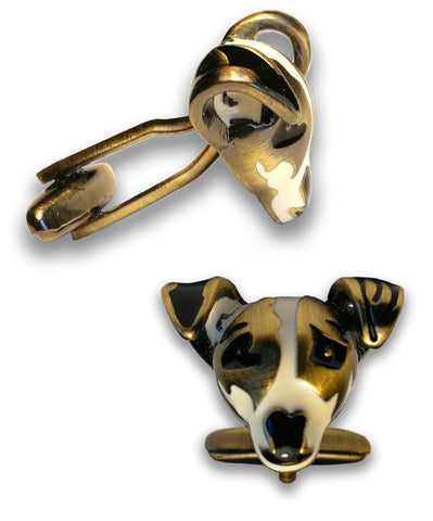 Boutons de Manchette<br>Jack Russell Luxe Boutons de Manchette Boutique Jack Russell