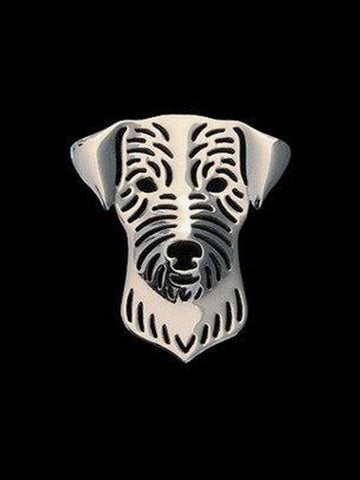 Broche Jack Russell<br/>Parson Luxe Broches Boutique Jack Russell Plaqué Argent White