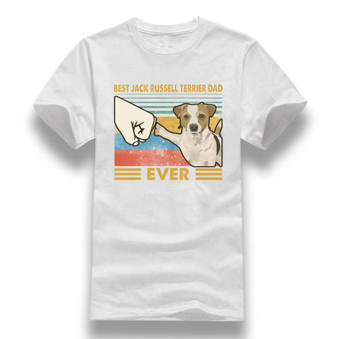 T-Shirt Jack Russell<br>Dad Ever Check T-Shirt Boutique Jack Russell Blanc XXL